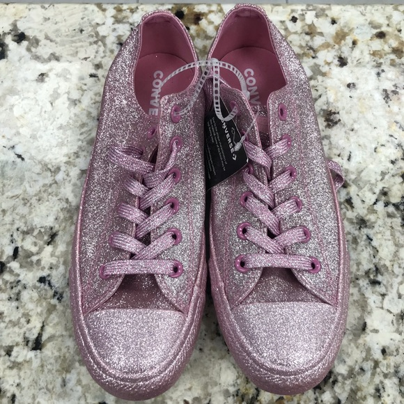 glitter converse style shoes